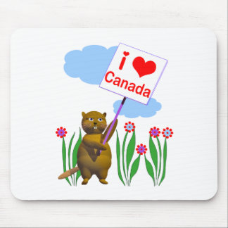 Canadian Beaver Loves Canada Mouse Pad