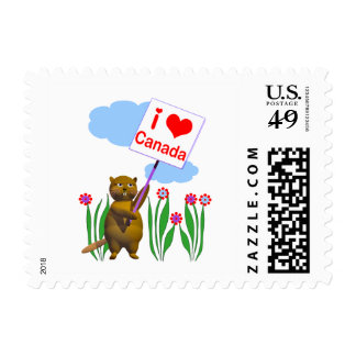Canadian Beaver Loves Canada Stamps