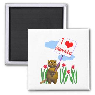 Canadian Beaver Loves Manitoba Magnet