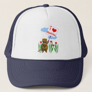 Canadian Beaver Loves Manitoba Trucker Hat