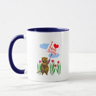 Canadian Beaver Loves Nova Scotia Mug