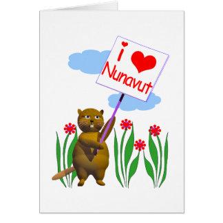 Canadian Beaver Loves Nunavut Card