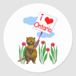 Canadian Beaver Loves Ontario Sticker