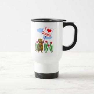 Canadian Beaver Loves Ontario Travel Mug