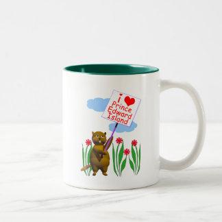 Canadian Beaver Loves Prince Edward Island Two-Tone Coffee Mug