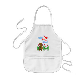Canadian Beaver Loves Quebec Kids' Apron
