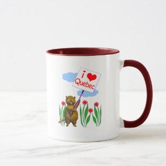 Canadian Beaver Loves Quebec Mug