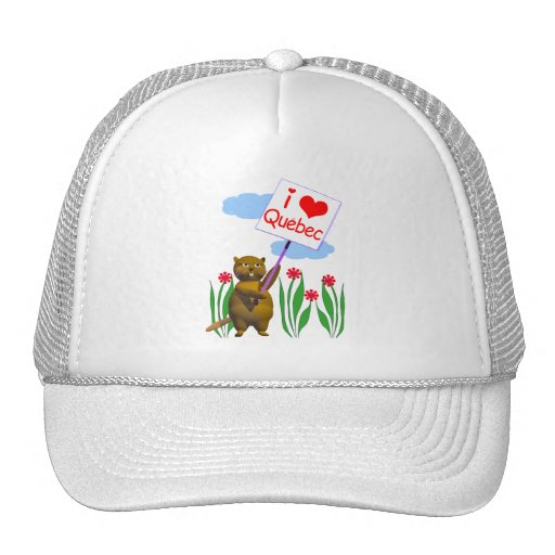 Canadian Beaver Loves Quebec Trucker Hat