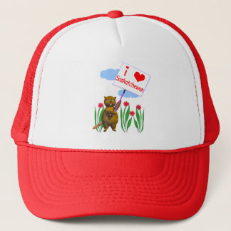 Canadian Beaver Loves Saskatchewan Trucker Hat
