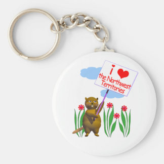 Canadian Beaver Loves the Northwest Territories Basic Round Button Keychain
