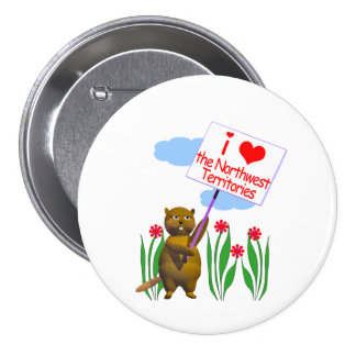Canadian Beaver Loves the Northwest Territories Button