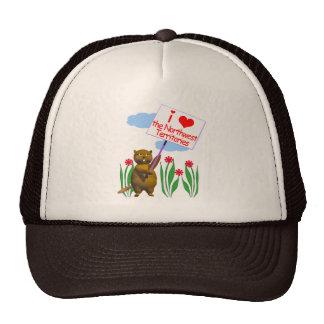 Canadian Beaver Loves the Northwest Territories Trucker Hat