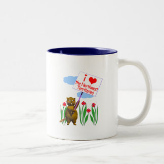 Canadian Beaver Loves the Northwest Territories Two-Tone Coffee Mug