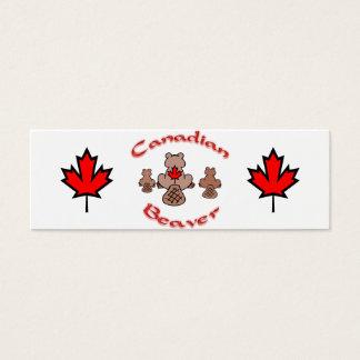 Canadian Beaver Mini Business Card