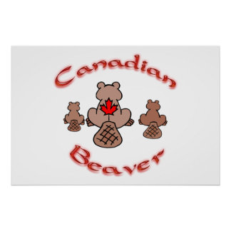 Canadian Beaver Poster
