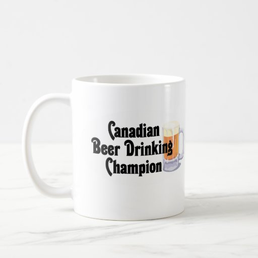 Canadian Beer Drinking Champion Mugs