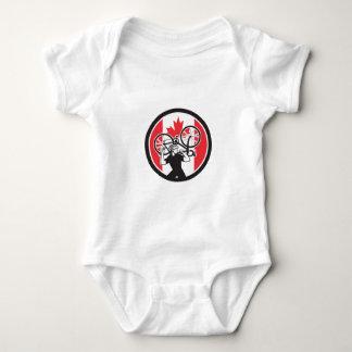 Canadian Bike Mechanic Canada Flag Icon Baby Bodysuit
