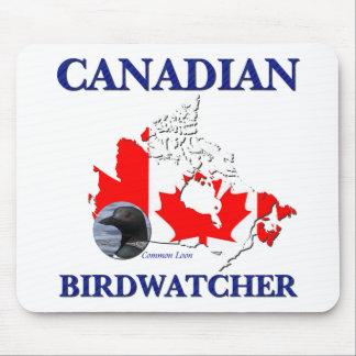 Canadian Birdwatcher Mouse Pad
