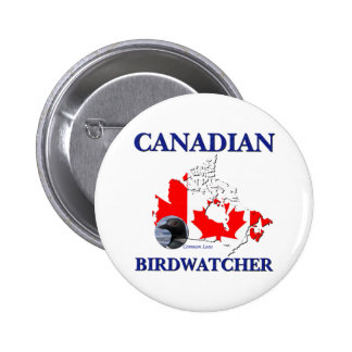 Canadian Birdwatcher Pinback Button