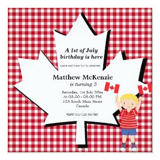 Canadian Birthday boy Card
