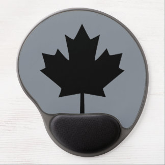 Canadian Black Maple Leaf Display Gel Mouse Pad