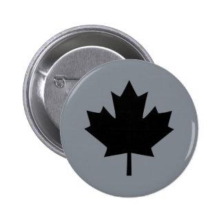 Canadian Black Maple Leaf Display Pinback Button