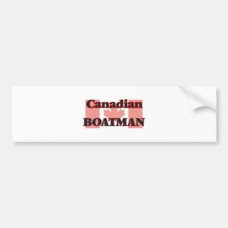 Canadian Boatman Car Bumper Sticker