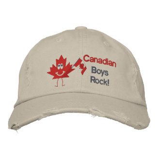 Canadian Boys Rock Embroidered Baseball Cap