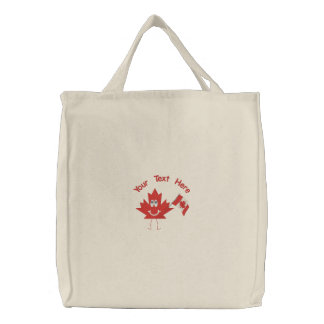 Canadian Boys Rock Embroidered Tote Bag
