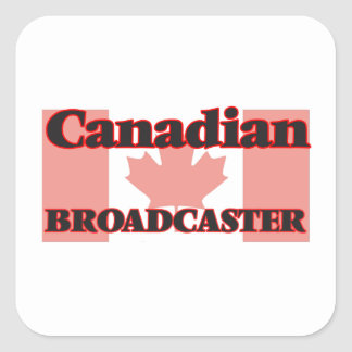 Canadian Broadcaster Square Sticker