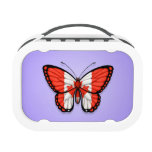 Canadian Butterfly Flag on Purple Lunch Boxes