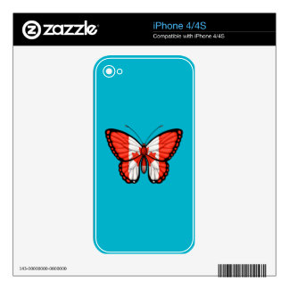 Canadian Butterfly Flag iPhone 4 Skins