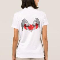 Canadian Canada Flag Leaf Angel Uniform Pattern Polo Shirt