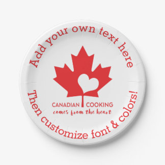 Canadian Chef Paper Plate