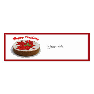Canadian Cherry Maple Leaf Cake Business Card