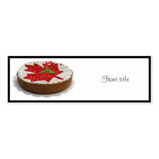 Canadian Cherry Maple Leaf Cake Business Card Templates