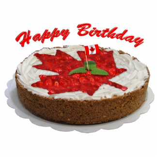 Canadian Cherry Maple Leaf Cake Statuette