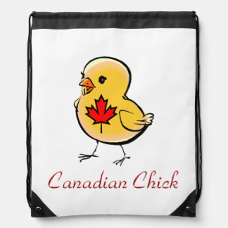 Canadian Chick Drawstring Backpack