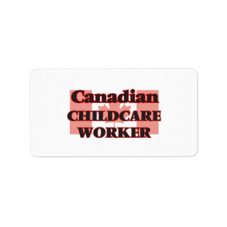 Canadian Childcare Worker Address Label
