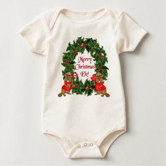 Canadian Christmas Baby Bodysuit