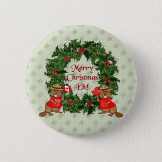 Canadian Christmas Button