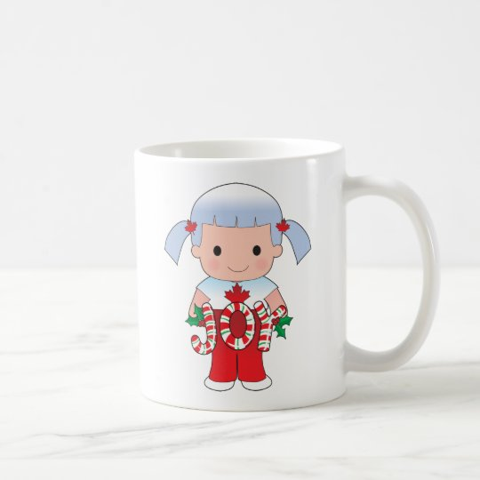 Canadian Christmas Girl Coffee Mug