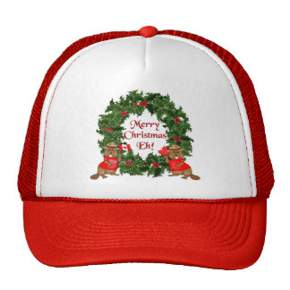 Canadian Christmas Mesh Hats
