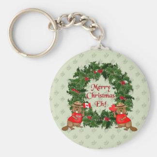 Canadian Christmas Keychain