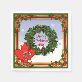 Canadian Christmas Paper Napkin