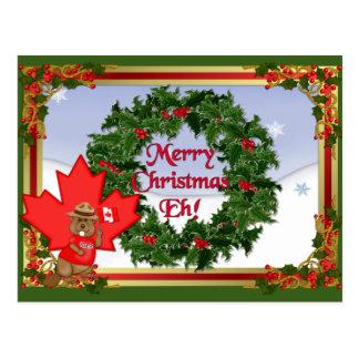 Canadian Christmas Postcard