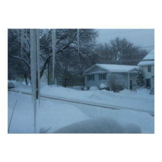 Canadian Christmas Snow Scene 2 Posters