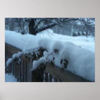 Canadian Christmas Snow Scene 3 Print