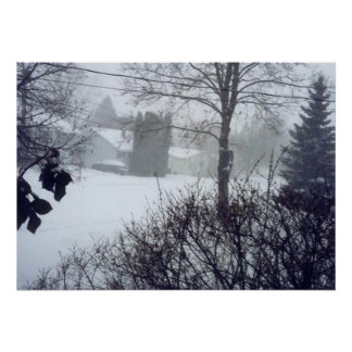 Canadian Christmas Snow Scene 4 Posters