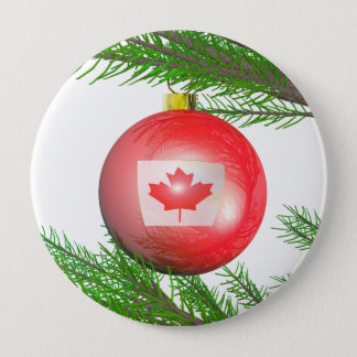 Canadian Christmas Tree Decoration Button